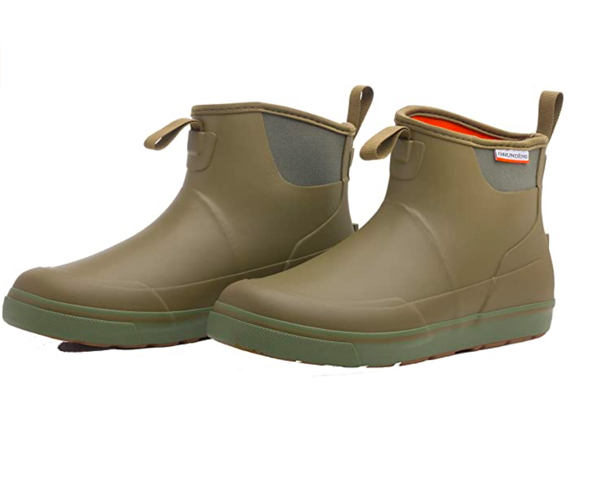 grundens deck boss ankle boot olive