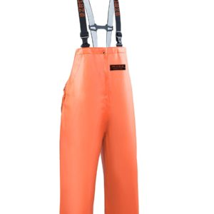 Grundens Tall Orange Herkules Fishing Bibs